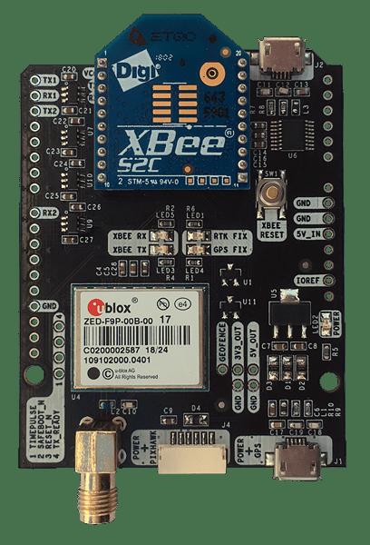 simpleRTK2B with ZED-F9P