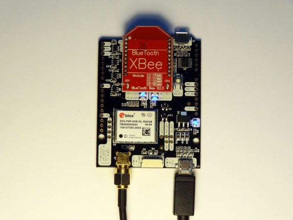simpleRTK2B Bluetooth mounted