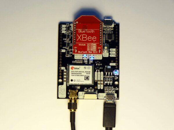 simpleRTK2B Bluetooth mounted