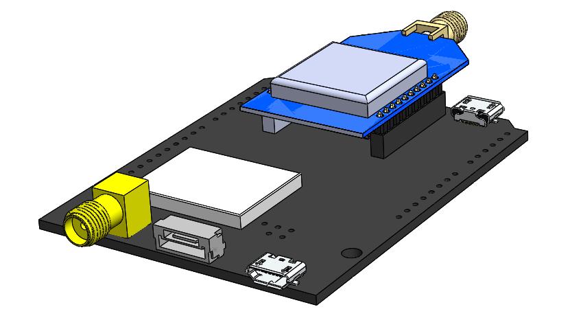 simpleRTK2B multiband RTK application board with u-blox ZED
