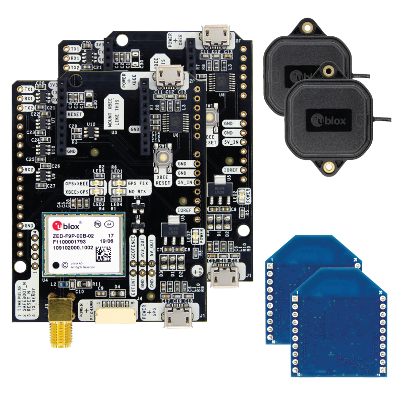 simpleRTK2B Medium Range Starter Kit IP67, based on u-blox
