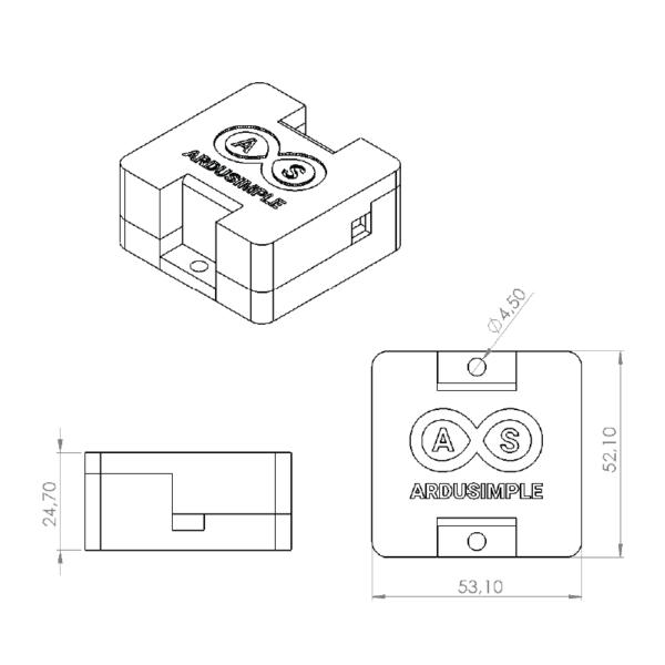 simpleRTK2Blite+BT case kit drawing