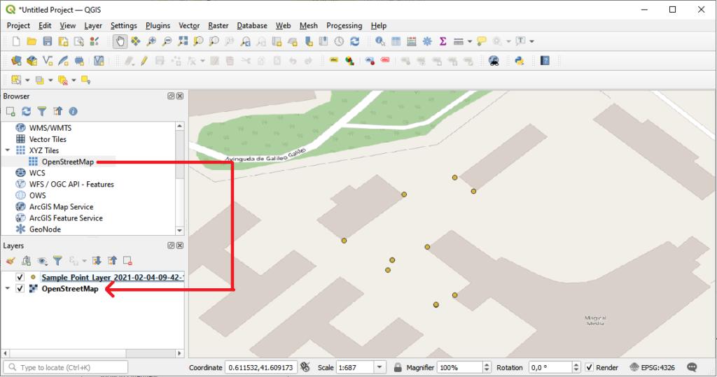 QGIS OpenStreetMap