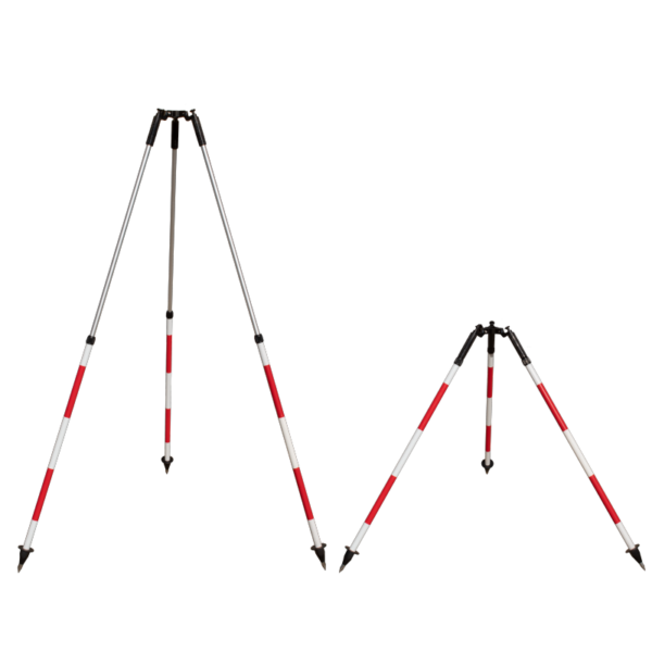 survey tripod extended retracted
