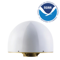 Triple band choke ring antenna with cover